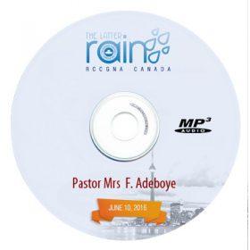 "<span itemprop=""name"">Pastor Mrs F. Adeboye – The Growing Christian Woman June 8, 2016</span>"