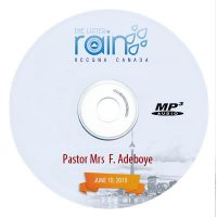 Pastor Mrs F. Adeboye – The Growing Christian Woman June 8, 2016