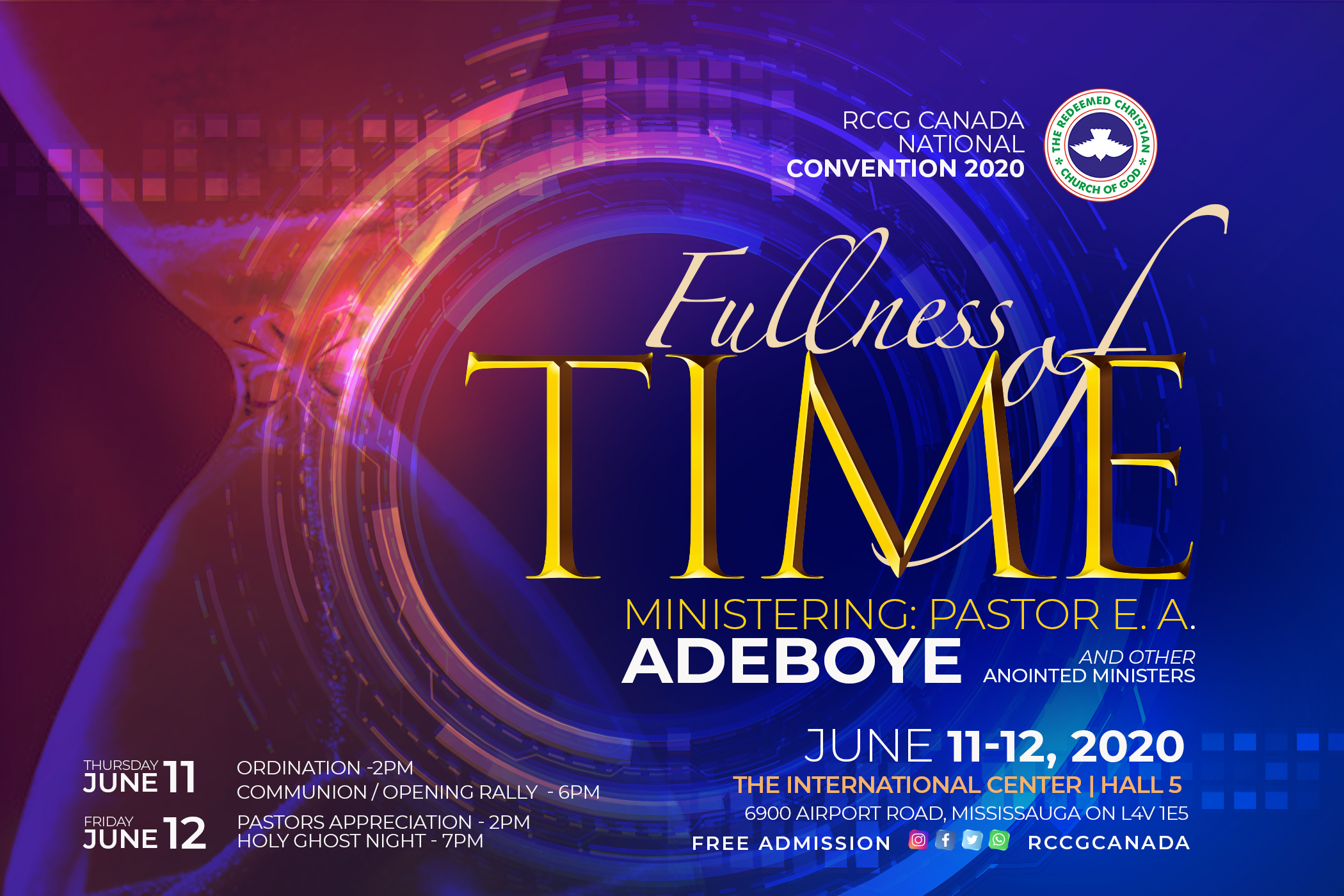 RCCG Canada National Convention - 2020 @ The International Center