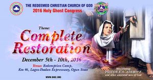 RCCG Holy Ghost Congress @ Redemption Camp | Nigeria