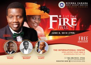 RCCG Canada Holy Ghost Service 2018 @ international Convention Center | Mississauga | Ontario | Canada